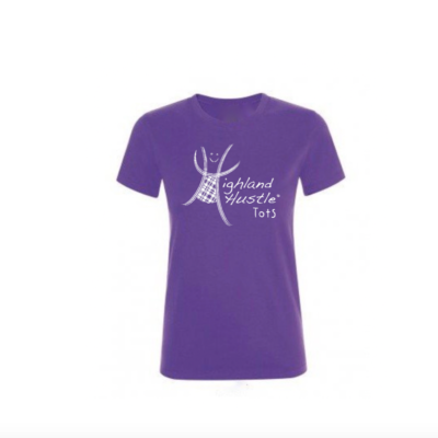 Purple Tots logo t-shirt for adults